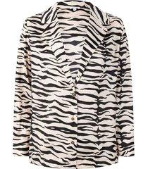 zebra print pajama top