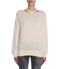 ben taverniti unravel project cut out round collar sweatshirt