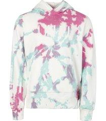 core logo tie dye hoodie multicolor