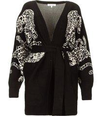 vest met luipaardprint cliffhanger  zwart