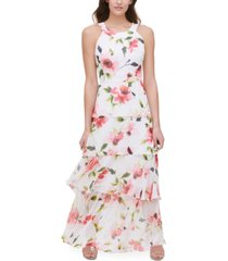 tommy hilfiger halter-neck tiered maxi dress, created for macy's