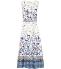 fleur-d dress in porcelain border