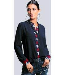 blouse alba moda marine::rood
