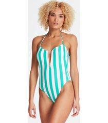 jednoczęściowy kostium kąpielowy w paski