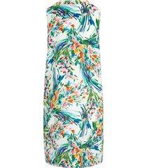 mouwloze jurk met print van bloemboeketten van peter hahn multicolour