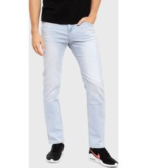 jeans ellus tiro medio slim celeste - calce slim fit