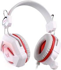audífono diadema gamer gs210 3.5mm led blanco