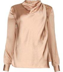 blouse met gedrapeerde hals illusion  roze