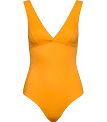ginza swim baddräkt badkläder gul storm & marie
