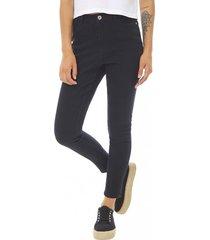 jeans básico crop mujer negro corona