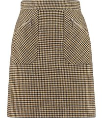 alexachung checked mini-skirt