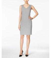 kasper petite v-neck sheath dress