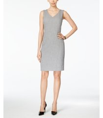 kasper v-neck sheath dress, regular & petite