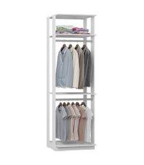 closet 2 cabideiros 2 prateleiras branco lilies móveis