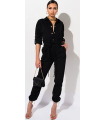 akira three nights denim jumpsuit