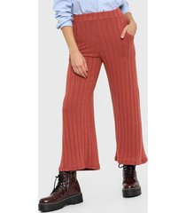 pantalón rosa nano palazo lanilla canelon ancho