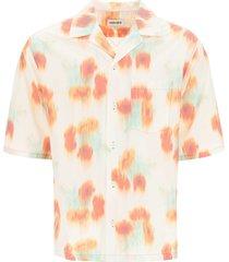 kenzo coquelicots print hawaiian shirt