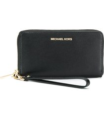 michael michael kors jet set travel phone case - black