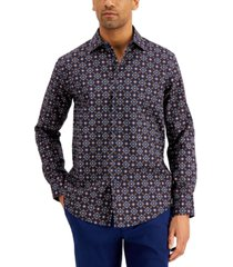 tasso elba men's apollo medallion shirt, created for macy's