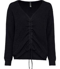 maglione oversize da arricciare (nero) - rainbow