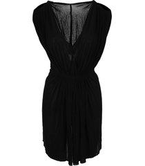 rick owens helena gathered-waist dress