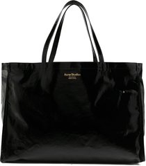 acne studios oversized tote bag - black