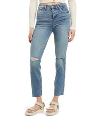 women's blanknyc the madis ripped jeans, size 24 - blue