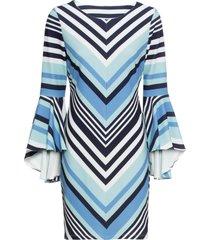abito con maniche a campana (blu) - bodyflirt boutique