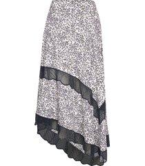 juliet print hortensia jupe knälång kjol vit zadig & voltaire