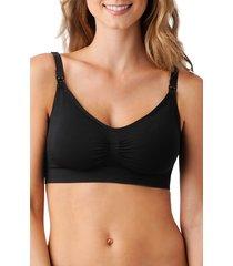 women's belly bandit bandita nursing bra, size large - black
