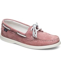 fancy 2-eye sde wmn loafers låga skor rosa marstrand