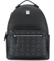 mcm round-top structured backpack - black