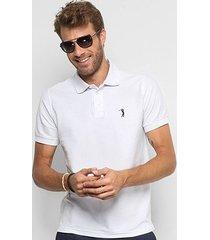 camisa polo aleatory piquet bordado masculina
