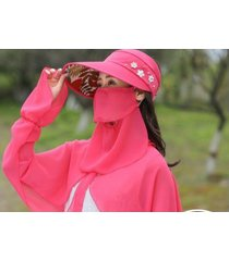 protección solar de verano sol femenino sombrero rosa