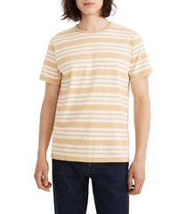 men's madewell allday stripe crewneck t-shirt, size x-large - yellow