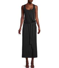vince women's pima cotton midi dress - black - size m