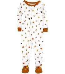 carter's baby boy or girl 1-piece 100% snug fit cotton footie pjs