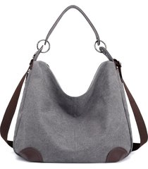 donna casual canvas shoulder borsa crossbody borsa tote borsa borsa a mano