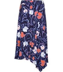 ladies skirt, iiris knälång kjol blå nanso