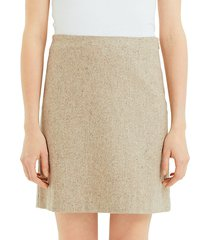 easy waist recycled wool-blend a-line skirt