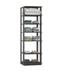estante closet industrial be mobiliário clothes 6 prateleiras 700