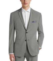perry ellis premium light gray extreme slim fit tech suit