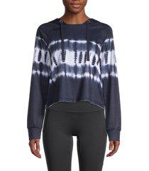 nanette lepore women's tie-dyed raglan-sleeve hoodie - catamaran - size l