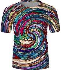 colorful swirl graphic print t-shirt