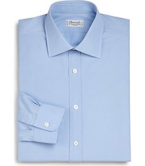 regular-fit solid cotton dress shirt