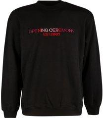 opening ceremony embro text logo regular crewneck sweatshirt