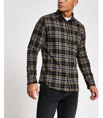 mens jack and jones navy check shirt