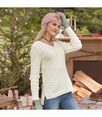 sundance catalog women's velkin sweater in papaya large