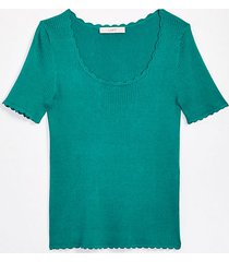 loft petite scalloped sweater tee