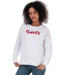 womens relaxed graphic crew sweatshirt